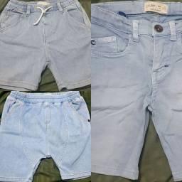 Combo Bermuda Jeans Infantil Zara