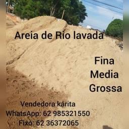 Areia de RIO Lavada