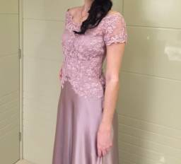Vestido de festa longo lilas