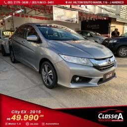 Honda City EX 1.5 Flex CVT 2015 Super Novo