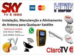 Antenista - Instalador - Manutenção - Instalação de antenas de TV.