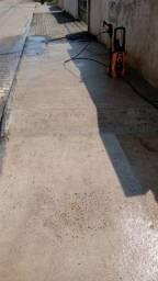 Lavação de portão e calçada