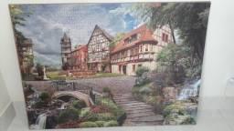 Quadro - Quebra-cabeça Vila Europeia para fazer quadro