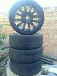 Vendo Aro 17 de alumínio com pneus