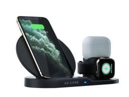 Carregador 3 em 1 Wireless para Smartphone e Apple Watch