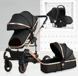 Carrinho de bebê Super Luxo 3 em 1 Novo em até 12 X