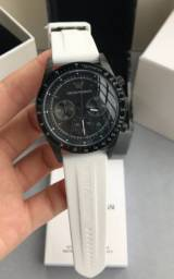 Relógio De Quartzo Masculino Emporio Armani Ar6112 Branco Borracha - Made in Italy