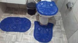 Jogo de banheiro em crochê novo