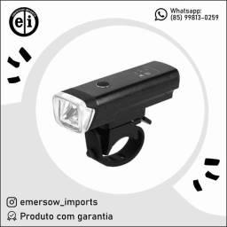 Título do anúncio: Luz De Bicicleta Farol Frontal Sinalizador Recarregável LT-8526 - Entrega Grátis