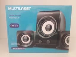 Caixa de som Multimidia multilaser 14W para PC ou TV em Maracanaú (loja)