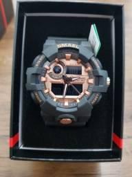Relógio esportivo Smael preto