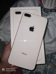 iPhone 8 Plus zero sem marcas de uso , troco em iPhone X com volta minha.
