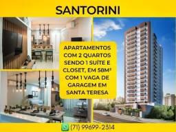 Santorini, 2 quartos em 58m² com 1 vaga de garagem em Santa Teresa - Imperdível