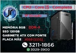 CPU Intel Core i5-9400F - 6 núcleos e 2.9GHz - 9ª Geração - - 8GB DDr-4 -SSd 120GB