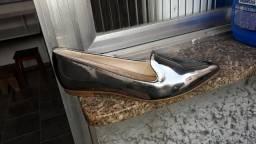 Sapato Beira Rio Prata velha