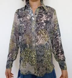 Camisa feminina animal print