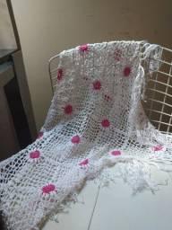 Xale em crochê branco