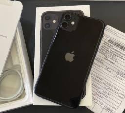 Título do anúncio: Iphone 11 Preto 256gb garantia Apple/ aceito troca em 7 ou superior+volta do interessado.