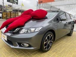 Honda Civic LXR 2.0 Aut - Cinza - Novissimo - 2014