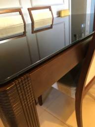 Mesa madeira maciça de  Sala de Jantar com 6 cadeiras