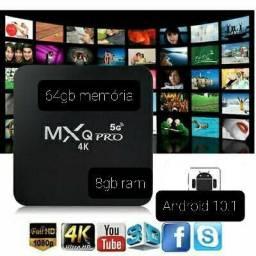 Tv box com aplicativos gratuitos Android 10.1 64gb 8gb ram