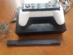 Título do anúncio: Nintendo Wii,preto brilhante travado