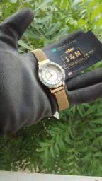 Título do anúncio: Relógio Curren Feminino Prova D´água Original Quartzo De pulso