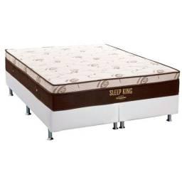 Base Bipartida com Colchão Sleep King Ortobom Super King Size 193x203x62