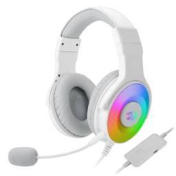Noobi - Headset Gamer Redragon Pandora 2 Lunar White RGB - H350W-RGB-1