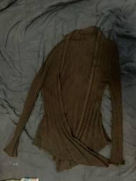Casaco básico de lã