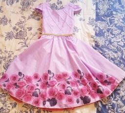 Vestido Princesa, tamanho 8 a 12 anos
