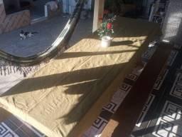 Título do anúncio: Mesa de Madeira 3 metros e dois bancos do mesmo comprimento da mesa