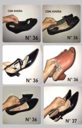 Calçados variados sandálias tênis saltos scarpin sapatilha desapegos