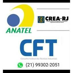 Serviços de Responsabilidade Técnica Anatel SCM Crea/CFT