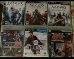 6 jogos originais de PS3