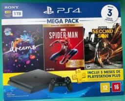 PS4 1TB Megapack 3 Jogos 3 Meses PSN