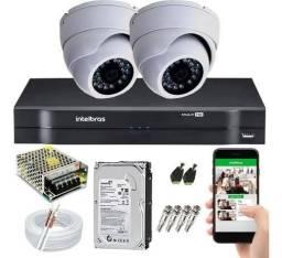 kit segurança com 2 câmeras