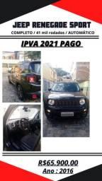 JEEP RENEGADE AUT IPVA 2021 PAGO