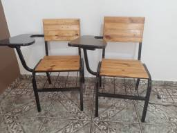 Carteiras escolares ferro e madeira