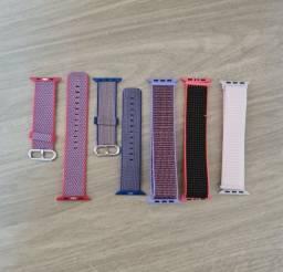 Pulseira de nylon tecido para smartwatch iwo apple watch 42mm