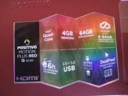 "Notebook Positivo Motion Plus Rede Q464b Intel Atom Quad-Core Windows 10 Home 14"""