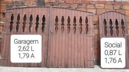 Portão Garagem e Social (Ler a Descrição)