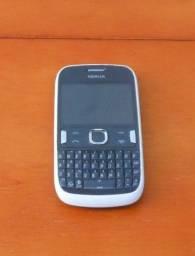 Celular Antigo Nokia Cinza Com Branco, Chamadas, SMS e Radio FM