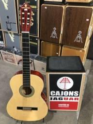 Cajon novo + violão usado