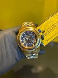 Título do anúncio: Relógio invicta Bolt Zeus botão azul novo
