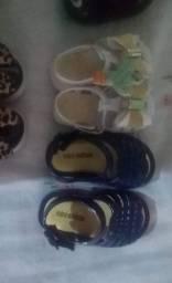 Título do anúncio: Calçados novos sem uso para menina bebê de 0 a 1 ano