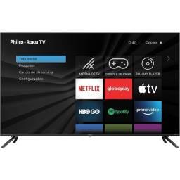 "Smart Tv Led 50"" Philco Ptv50rcg70bl 4k Uhd Midiacast 4 Hdmi 2 Usb com nota fiscal"
