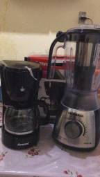 Liquidificador e cafeteira .