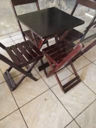 Jogos de mesa e cadeira de madeira dobráveis