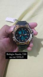 Relógio Sanda 739 na cor Gold
